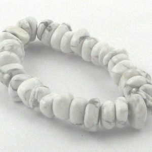 Howlite Heishi Bracelet Crystal Jewelry bracelet