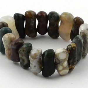 Ocean Jasper Small Peanut Bracelet All Crystal Jewelry bracelet