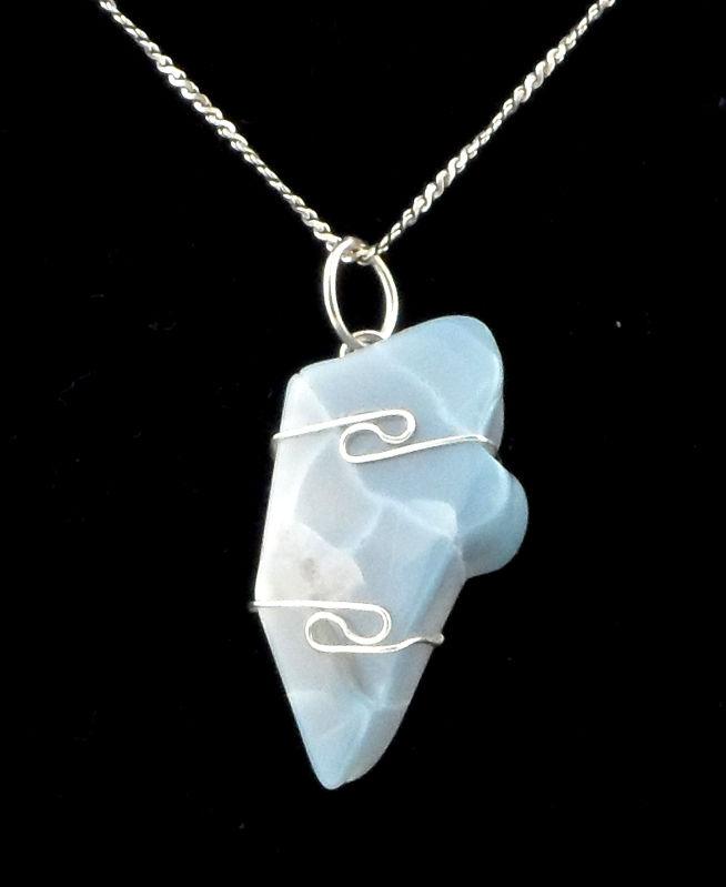 Owyhee Blue Opal Pendant All Crystal Jewelry owyhee blue opal
