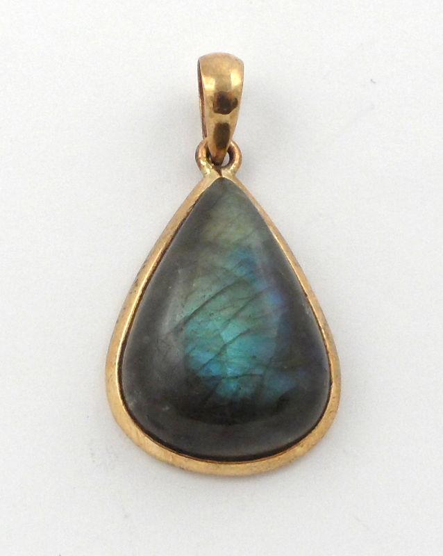 Labradorite Bronze Pendant All Crystal Jewelry
