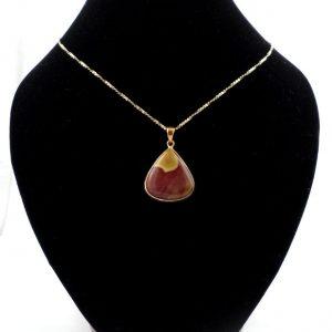 Mookaite Bronze Pendant Crystal Jewelry bronze