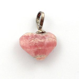 Rhodochrosite Heart Pendant Crystal Jewelry heart