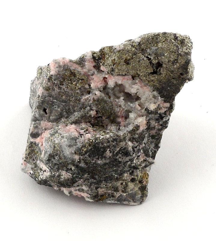 Rhodochrosite with Pyrite Specimen, Raw All Raw Crystals pyrite