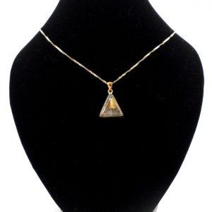 Rutilated Quartz Bronze Pendant All Crystal Jewelry bronze