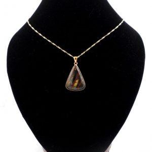 Tiger Iron Bronze Pendant Crystal Jewelry bronze