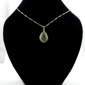 Vesuvianite Bronze Pendant Crystal Jewelry bronze