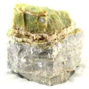 Chrysotile in Serpentine Specimen All Raw Crystals chrysotile