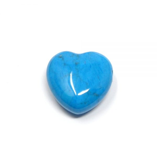 Blue Howlite Puffy Heart 30mm All Polished Crystals blue howlite