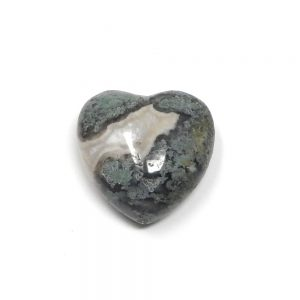 Moss Agate Puffy Heart 30mm All Polished Crystals agate