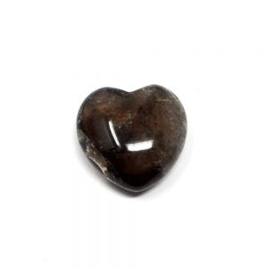Smoky Quartz Puffy Heart 30mm All Polished Crystals crystal heart