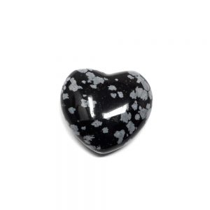 Snowflake Obsidian Puffy Heart 30mm New arrivals crystal heart