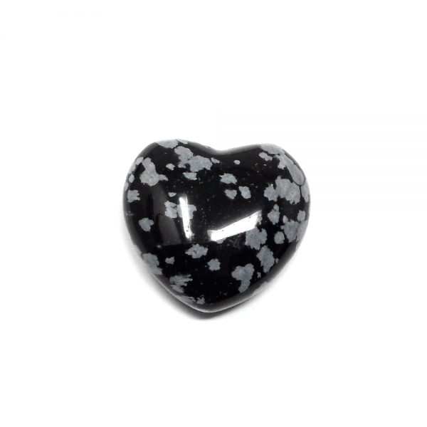 Snowflake Obsidian Puffy Heart 30mm All Polished Crystals crystal heart