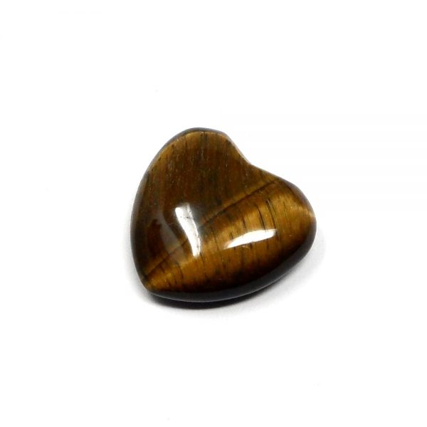 Tiger Eye Puffy Heart 30mm All Polished Crystals crystal heart