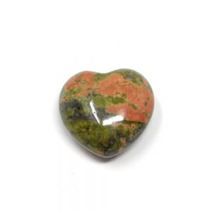 Unakite Puffy Heart 30mm New arrivals crystal heart