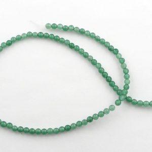 Aventurine 4mm Round Bead Strand All Crystal Jewelry