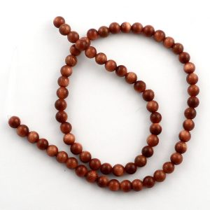 Goldstone 4mm Round Bead Strand All Crystal Jewelry 4mm bead