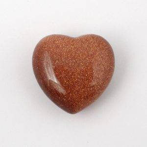 Goldstone, Puffy Heart, 30mm All Polished Crystals goldstone