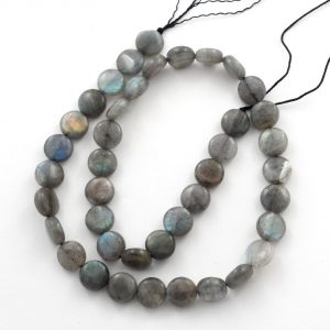 Labradorite Flat Round Bead All Crystal Jewelry bead