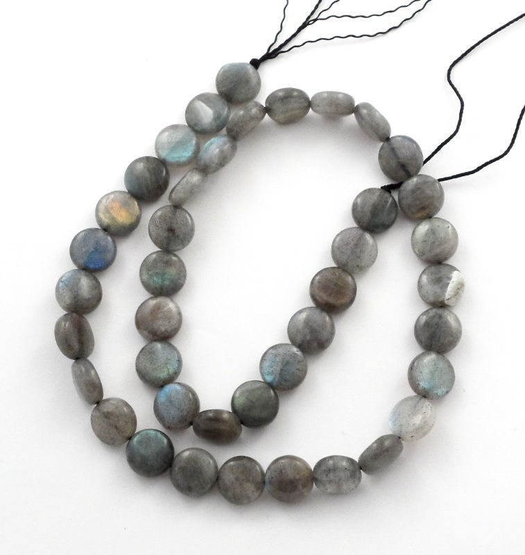 Labradorite Flat Round Bead All Crystal Jewelry