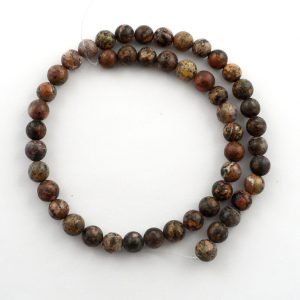 Leopardskin Agate 8mm Round Bead Strand All Crystal Jewelry 8mm bead