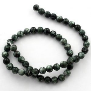 Seraphinite Round Bead Strand All Crystal Jewelry bead