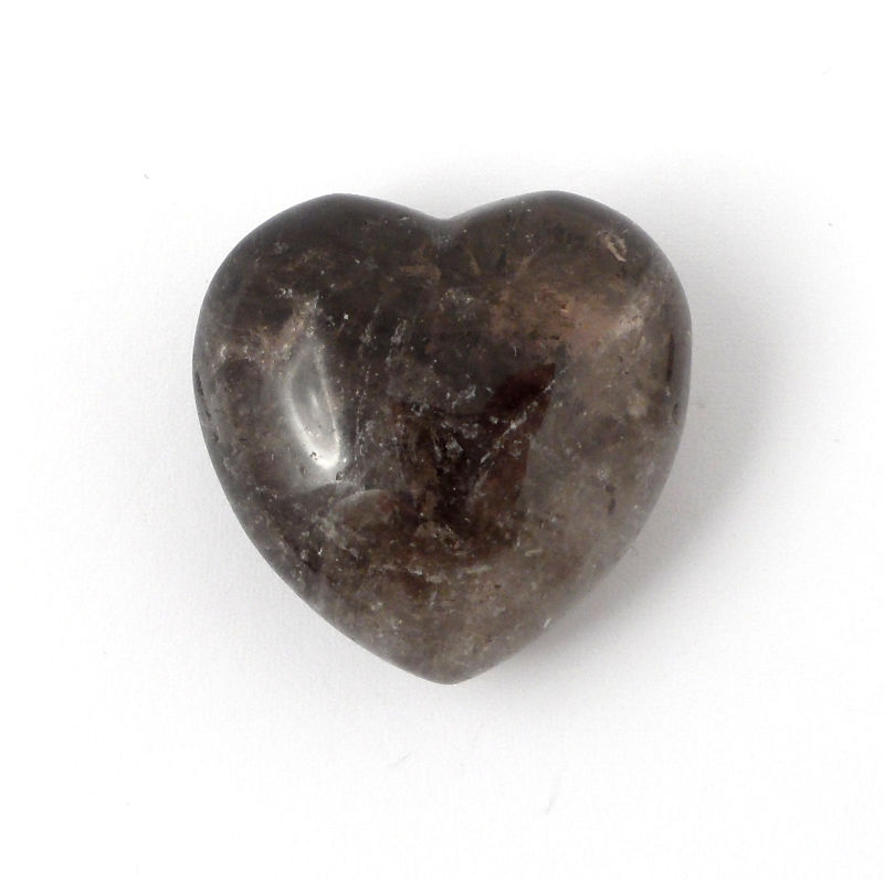 Quartz, Smoky, Puffy Heart, 45mm Polished Crystals heart