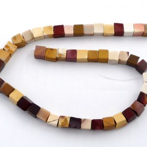 Mookaite Cube Bead Strand, large Crystal Jewelry bead