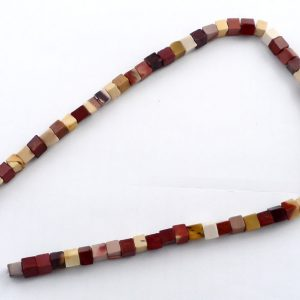 Mookaite Cube Bead Strand, small All Crystal Jewelry bead