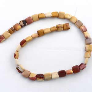 Mookaite Flat Square Bead Strand Crystal Jewelry bead