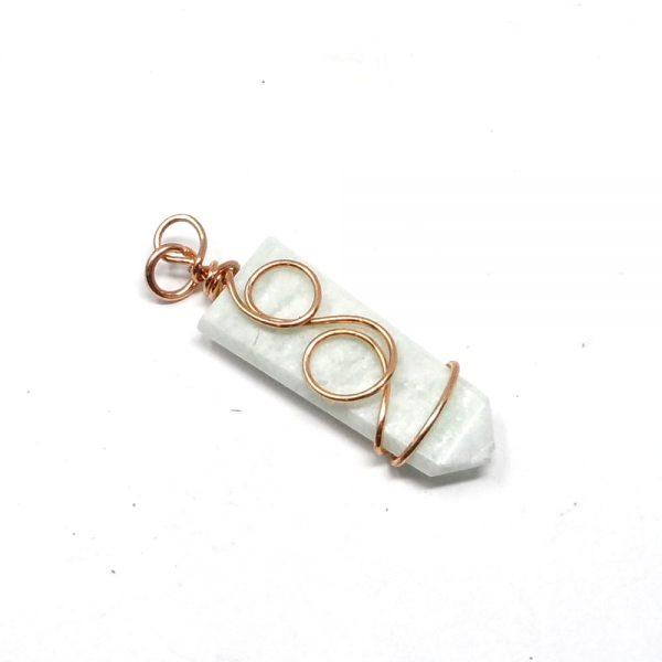 Copper & Amazonite Pendant All Crystal Jewelry amazonite