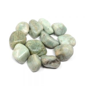 Amazonite, tumbled, 8oz All Tumbled Stones amazonite