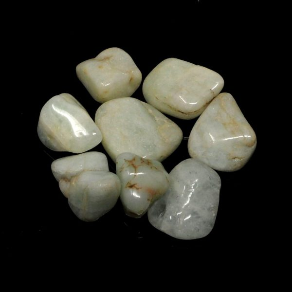 Aquamarine, tumbled, 4oz All Tumbled Stones aquamarine