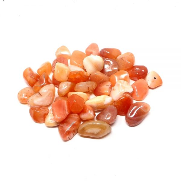 Banded Carnelian md tumbled 8oz All Tumbled Stones banded carnelian