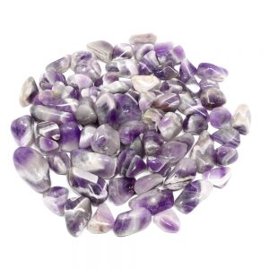 Amethyst, Banded, tumbled, 16oz All Tumbled Stones amethyst