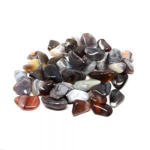 Botswana Grey Agate md tumbled 8oz All Tumbled Stones agate