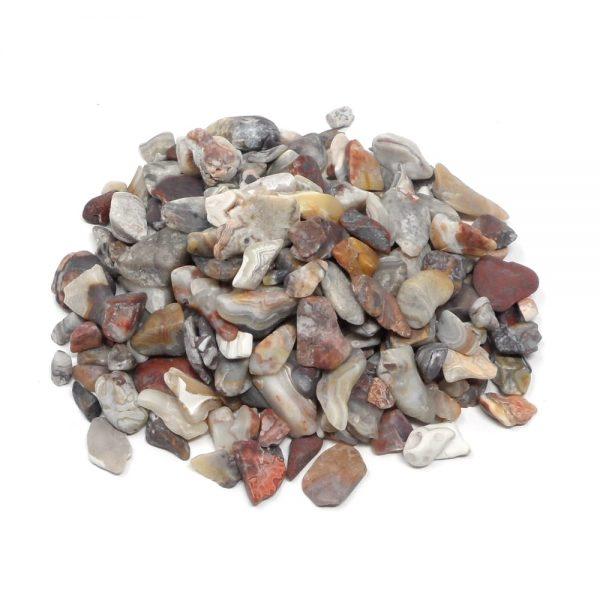 Agate, Crazy Lace, tumbled, 4oz All Tumbled Stones agate