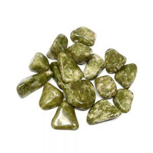 Epidote, tumbled, 4oz All Tumbled Stones bulk crystals