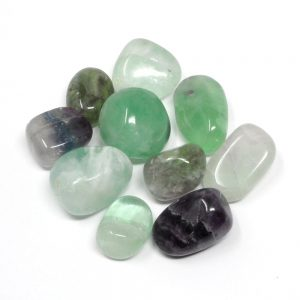 Fluorite, tumbled, 8oz All Tumbled Stones fluorite