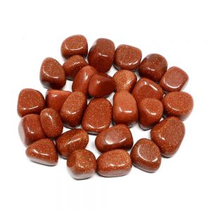 Goldstone, Red, tumbled, 8oz All Tumbled Stones goldstone