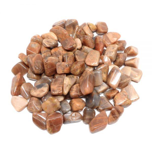 Moonstone, tumbled, 16oz All Tumbled Stones bulk moonstone