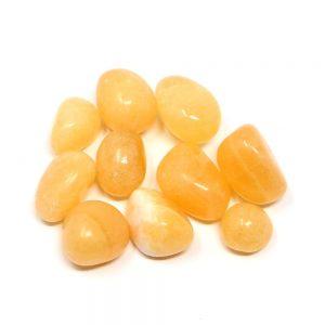 Calcite, Orange, tumbled, 4oz Tumbled Stones bulk crystals