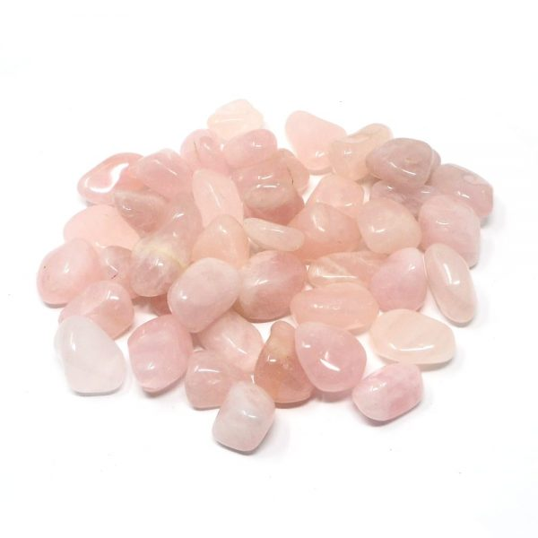 Rose Quartz md tumbled 16oz All Tumbled Stones bulk pink quartz