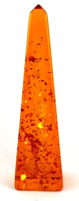 Amber Obelisk All Polished Crystals amber