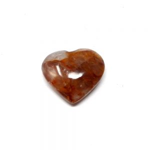 Hematoid Quartz Heart Polished Crystals crystal heart
