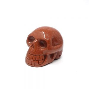 Red Goldstone Skull Polished Crystals crystal skull