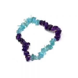 Blue Topaz & Amethyst Chip Bracelet Crystal Jewelry amethyst