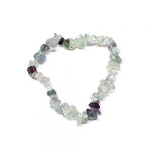 Fluorite Single Strand Chip Bracelet All Crystal Jewelry bracelet