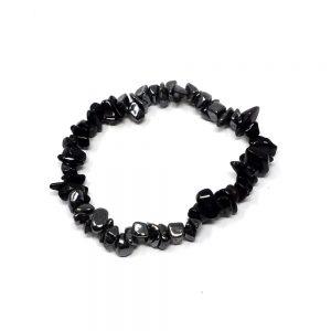 Hematite & Black Obsidian Chip Bracelet All Crystal Jewelry black obsidian