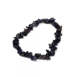 Iolite Single Strand Chip Bracelet Crystal Jewelry bracelet