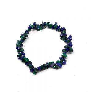 Malachite & Azurite Chip Bracelet Crystal Jewelry azurite